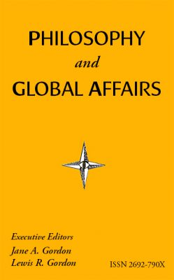 Cover of the Philosophy and Global Affairs journal.